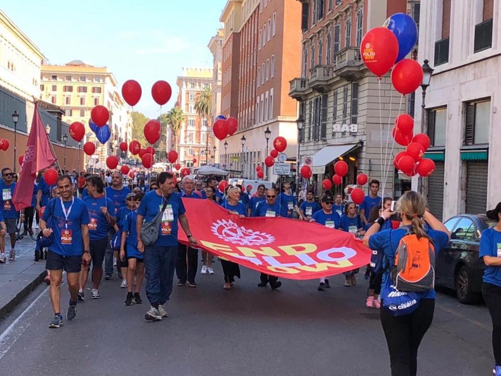 Gallery - Rome Half Marathon via Pacis - END POLIO NOW