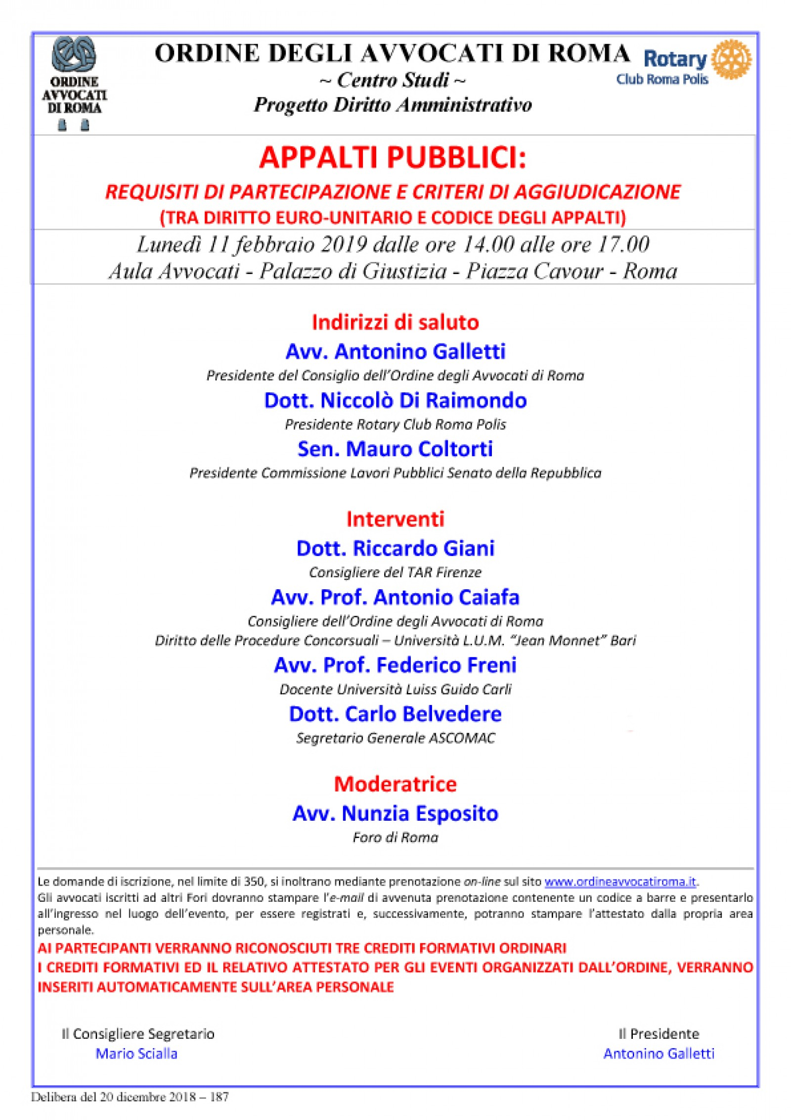 """Gallery - Convegno """"Appalti pubblici: requisiti di partecipazione e criteri di aggiudicazione (tra diritto euro-unitario e codice degli appalti)"""""""