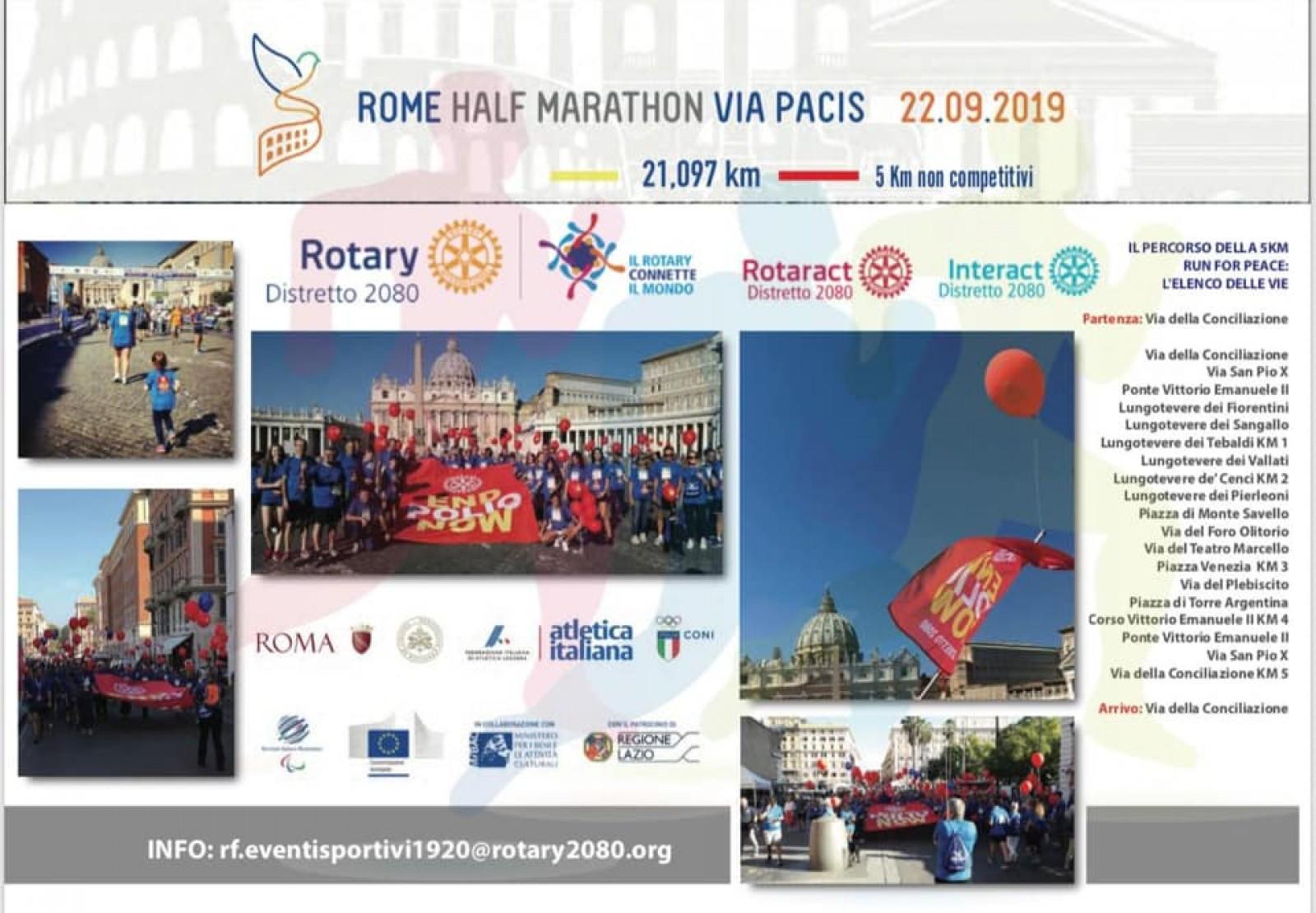 Gallery - 22 settembre Rome Half Marathon Via Pacis