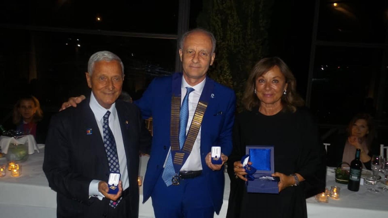Gallery - Passaggio del Collare tra il Governatore 2019-20 del Distretto 2080 Giulio Bicciolo ed il Governatore 2020-21 Giovambattista Mollicone